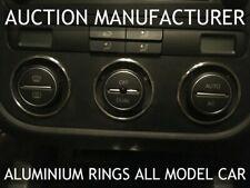 VW Scirocco Aluminium Chrome Heater Control Rings Surrounds 3pcs