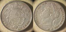 Great Britain : 1820  1/2 Crown XF Rim Ding Chick Ding  #676  IR8312