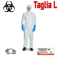Tuta antivirus protezione rischio biologico certificata EN14126 professionale L