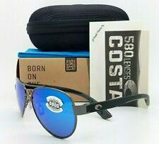 Costa Del Mar Loreto Gunmetal / Blue Mirror 580 Glass 580g LR 22 OBMG