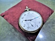 Vintage 1926 Hamilton Grade 912 Pocket Watch 17 Jewels 14K GF 12s Case Adjusted
