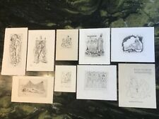 9 ex libris gravures érotiques signée & numérotés Severin Mark & Gaudaen Gerard