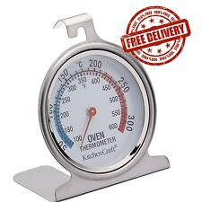 """Cooking Oven Thermometer Stainless Steel Baking Temperature Control 2.5""""x3"""" NEW"""