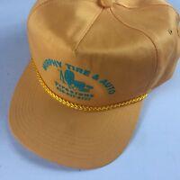 Murphy Tire & Auto Double Snapback Hat VTG Cap Yellow Firestone North Carolina