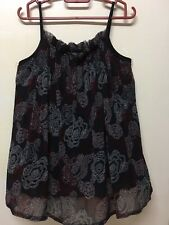 Spaghetti Strap Flare Blouse Free Size Preloved