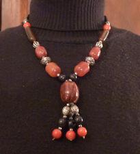 Collier vintage perles plastique plusieurs couleurs de 50 cm