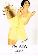 PUBLICITE ADVERTISING 104  1997  ESCADA  parfum femme ACTE 2