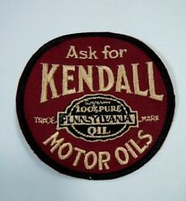 """Vintage Ask For KENDALL Motor Oils Embroidered Iron-On Uniform-Jacket Patch 3"""""""