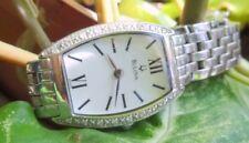 Bulova 16 GENUINE DIAMONDS Ladies Women's Watch Wristwatch Stainless Steel 96RO5