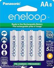 8 New Panasonic Eneloop AA 2100 Cycles BK-3MCCA8BA Ni-MH Rechargeable Batteries
