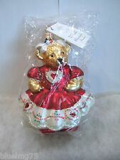 Radko Ornament Hearts and Flowers Muffy Vander Bear 99-NAB-04 NIB/SEALED (R45)