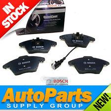 Audi/VW Front Disc Brake Pad Set-Genuine Bosch Quiet-Cast w/Wear Sensor 2006-11