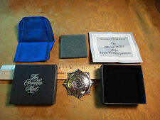 Franklin Mint Sterling Silver Badge - Great Western Lawmen - Colorado Rangers