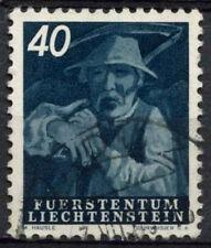 Liechtenstein 1951 SG#293, 40R Man With Scythe Used #A92490B