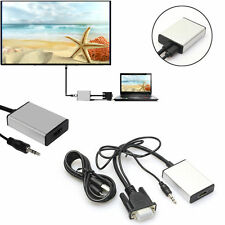 VGA To HDMI Output 1080P HD+USB Audio TV AV HDTV Video Cable Converter Adapter p