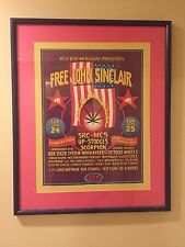 JOHN SINCLAIR FREEDOM RALLY 1971 Gary Grimshaw POSTER JOHN LENNON Ann Arbor Mi