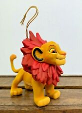 Disney Grolier Simba Lion King Christmas Ornaments First Issue In Box