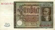 Germany / Deutschland P-172 / Ro.165 50 rentenmark 1934
