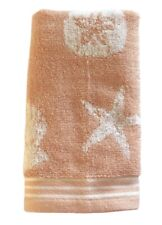 Shell Sand Dollar Starfish Hand Towels Guest Bathroom Beach House Set of 2 Pink
