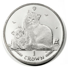 Isle of Man Siberian Cat & Kitten One Crown 2013 Bu Coin Proof-like