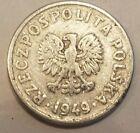 1949 Poland 20 Groszy 1/5 Zloty .2 Zlotych Polish Coin Communist Cold War relic