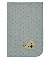 Steiff Jerseydecke Babydecke Decke Kuscheldecke Bär blau grau  90 x 60 cm