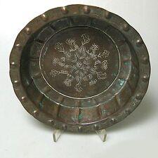 Antike Kupferschale Schale Kupfer sehr detaillierte Handarbeit ca.21 x 5 cm