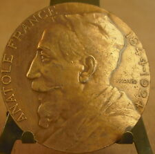 Médaille Anatole France 1844-1924 signée Sicard Medal 勋章 Mbr académie Française