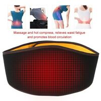 Lumbar Waist Support Belt Adjust Brace Heating Therapy Pain Relief Protector USB