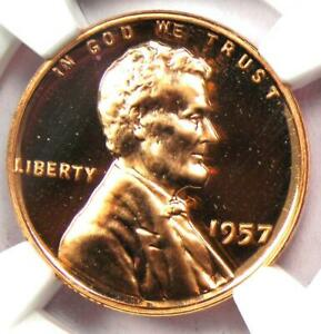 1957 Proof Lincoln Wheat Cent Penny 1C - NGC PR68 RD Cameo (PF68) - $875 Value!