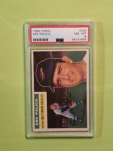 1956 Topps Baseball #206 - Erv Palica - Orioles - PSA 8