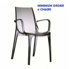 VANITY polypropylene chair. Transparent smoke. SCAB DESIGN