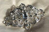 'Eva' Art Deco Vintage Style Crystal Bridal Hair Comb 1920's Wedding Diamanté