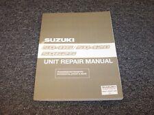 2001 Suzuki Vitara & Grand Vitara SUV Shop Service Unit Repair Manual JX JLS JLX