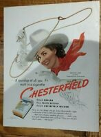 Francesca Sims Of Texas Girl of the Month in 1940 Chesterfield Cigarettes Ad