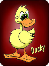 2- Yellow Duck Decal Bumper Stickers Personalize Name Or Text 5""