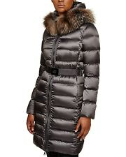 Moncler Tinuviel Fox Fur Trim  Down Coat Jacket Puffer size 3 NEW $2155