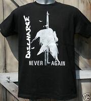 "DISCHARGE ""NEVER AGAIN"" T-SHIRT S-5XL OFFICIAL MERCH british punk rock hardcore"