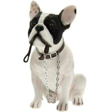LEONARDO Walkies Sitting White French Bulldog Holding Lead Ornament Gift Boxed