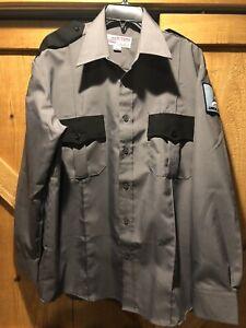 "Arrow Security Uniform Employee Shirt National Patrol Gray Size 16""-16.5"" 34/35"
