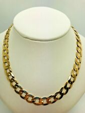 9ct Yellow Solid Gold Curb Chain - 21""