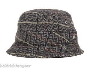New Era EK Bacchus Wool Blend Tweed Bucket Style Cap Hat Large