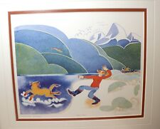 original 1993 Limited Edition Rie Munoz signed numbered Tossing Sticks art print