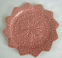"Bordallo Pinheiro Rabbit Pink Salad Plate - 8 3/8"""