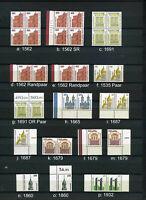 BRD SWK Viererblock Randmarken Paare; postfrische Topware! Bitte auswählen #e111