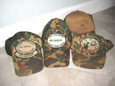 4 Vintage LAKE GUERRERO Deer Mexico Hunting Camo Camouflage Trucker Hat Cap USED