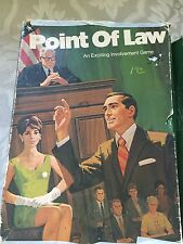 Vintage 1972 Point Of Law Game Lawyer Family Fun Discussion Rare