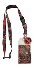 Marvel Deadpool Lanyard ID Badge/ Ticket Holder New