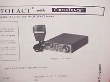 1978 GEMTRONICS CB RADIO SERVICE SHOP MANUAL MODEL GTX-4040