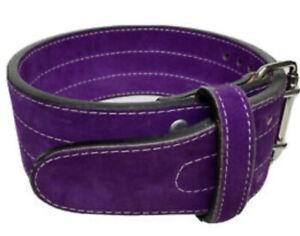 Womens Inzer Advance Designs Purple Suede Powerlifting Weight Lifting Belt Sz XS